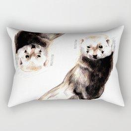 Steppen ferret (Mustela eversmanii) Rectangular Pillow