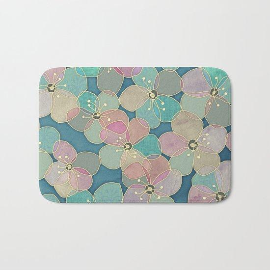 It's Always Summer Somewhere 2 - translucent poppy doodle Bath Mat