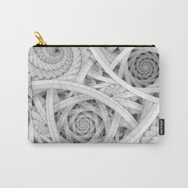 GET LOST - Black and White Spiral Carry-All Pouch