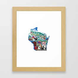 Wisconsin Country Sampler Framed Art Print