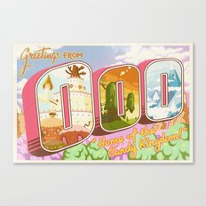 Greetings from Ooo / Adventure Postcard Canvas Print