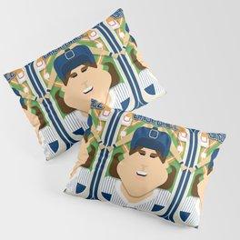 Baseball Blue Pinstripes - Deuce Crackerjack - June version Pillow Sham