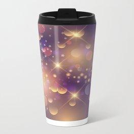 Festive Sparkles in Purple Metal Travel Mug