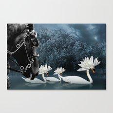 Tribal Swans Canvas Print