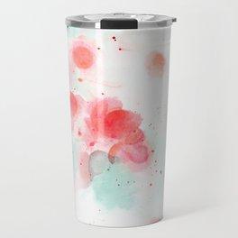 Abstract water lillies Travel Mug