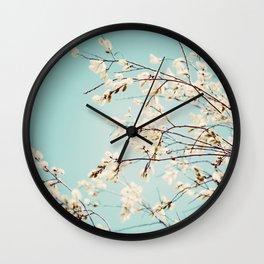 Spring Willows Wall Clock