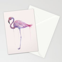 "Watercolor Painting of Picture ""Flamingo"" Stationery Cards"