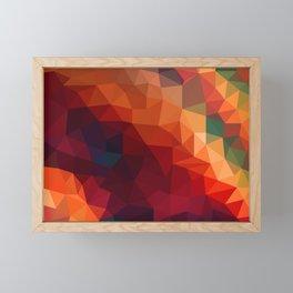 Burnt Jewel Low Poly Framed Mini Art Print