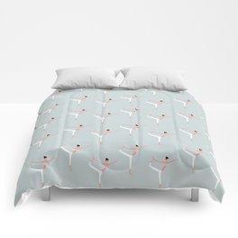 YOGA GIRL #1 Comforters