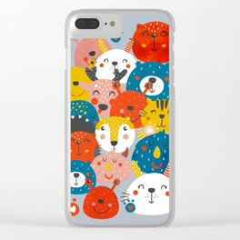 Monsters friends Clear iPhone Case
