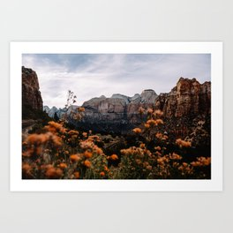 Zion Canyon through the Flora Art Print