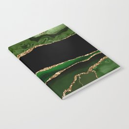 Emerald Marble Glamour Landscapes Notebook
