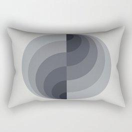 Marble Gray Globe LT Rectangular Pillow