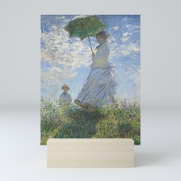 Monet's Woman with a Parasol (High Resolution) Mini Art Print