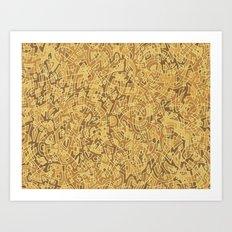Thought Pattern - Sand Art Print