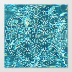 Flower of life in the water Canvas Print