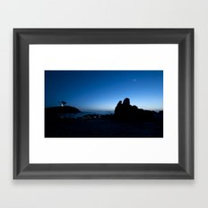 blue hour. Framed Art Print