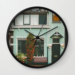 Amsterdam Small House Wall Clock
