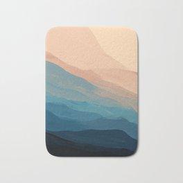 Blue Waves In Desert Peaks Bath Mat