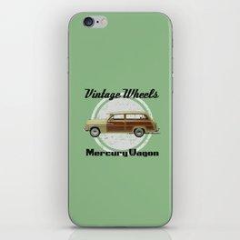Vintage Wheels: Mercury Wagon (black) iPhone Skin