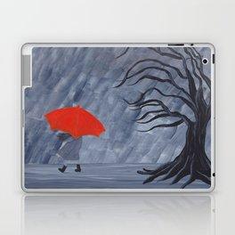 Orange Umbrella Laptop & iPad Skin