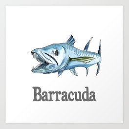 B is for Barracuda Art Print