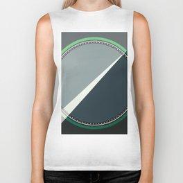 London - green circle Biker Tank
