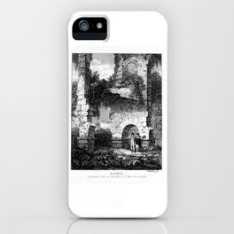 Rome Colosseum Ruins, Internal View, early 19th Century Artwork by Bartolomeo Pinelli. iPhone Case