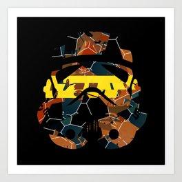 Stormtrooper Contrast Pattern Art Print