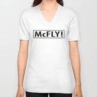 mcfly V-neck T-shirts featuring McFly by Pineapple Lanai