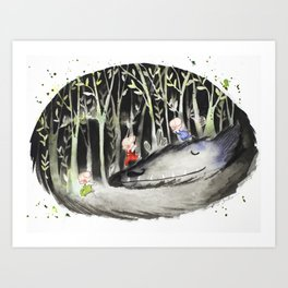 When the Wolf Sleeps Art Print