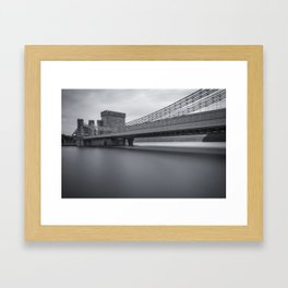 Conwy Suspension Bridge Framed Art Print
