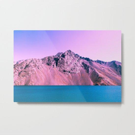 Pastel mountains Metal Print