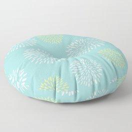 Light Teal Burst Floor Pillow