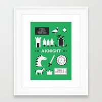 ouat Framed Art Prints featuring OUAT - A Knight by Redel Bautista