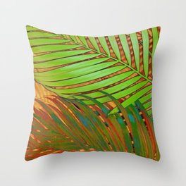 TROPICAL LEAVES POP-ART no5 Throw Pillow