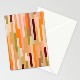 Retro Linear Autumnal Pattern Stationery Cards