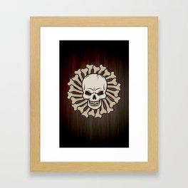 Angry skull Framed Art Print