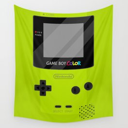 Gameboy Color - Green Wall Tapestry