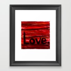 LOVE By KPD (Stretched) Framed Art Print
