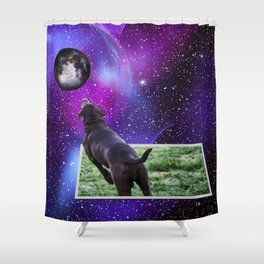 Reaching For The Moon Shower Curtain