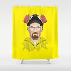 Breaking Bad - Walter White in Lab Gear Shower Curtain