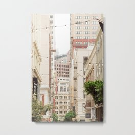 San Francisco Daydreaming in Union Square Metal Print