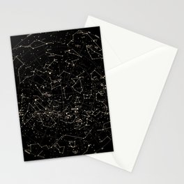 Constellations Map, Stars, Astronomy Cosmos Galaxy Stationery Cards
