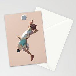 Oikawa jumping Stationery Cards
