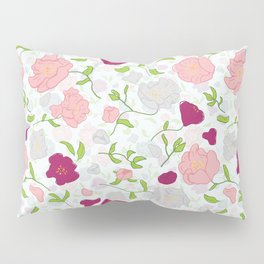 Positively Peonies Floral Pattern Pillow Sham