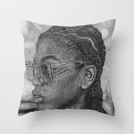 SHADES AND CORNROWS Throw Pillow