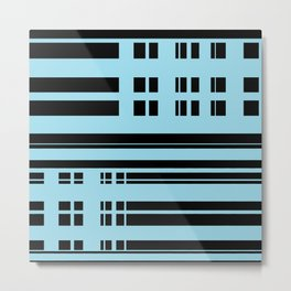 Structural Silhouette Metal Print