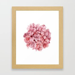 Red Hydrangea Watercolor Framed Art Print