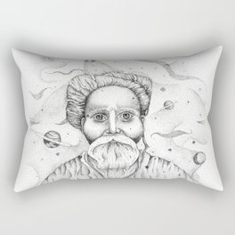 Aim for the moon, land in the stars Rectangular Pillow